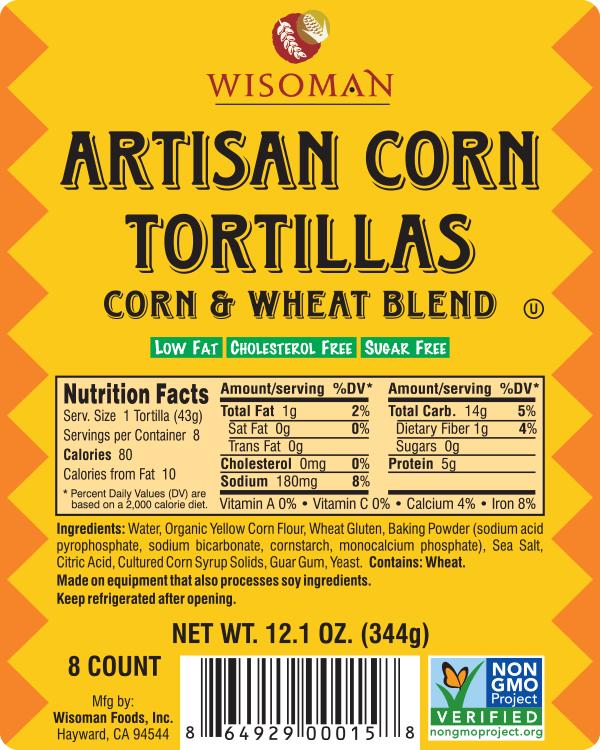 Wisoman Artisan Corn Tortilla
