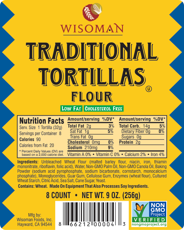 Wisoman Traditional Tortilla
