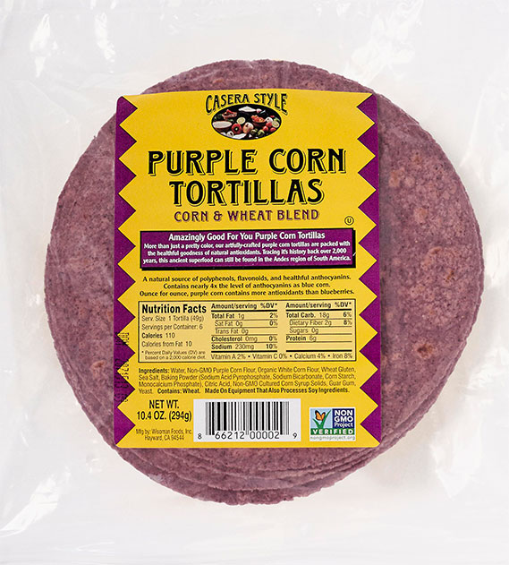 Artisan Purple Corn Tortillas